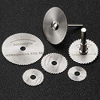 JTENG 6 piezas HSS hojas de sierra Circular