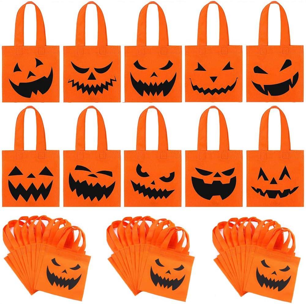 Viccess 40pcs Halloween Bolsas no Tejidas Bolsas de Calabaza Trucos o Golosinas Bolsas Dulces Bolsas para Halloween Party Favors