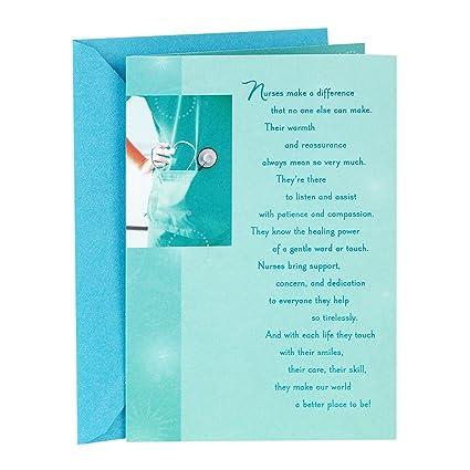 Amazon hallmark nursing school graduation greeting card hallmark nursing school graduation greeting card nurses make a difference m4hsunfo