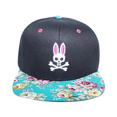 Psycho Bunny Rockaway Flat Bill Hat in Dark Navy  Amazon.in  Clothing    Accessories 71319c25806