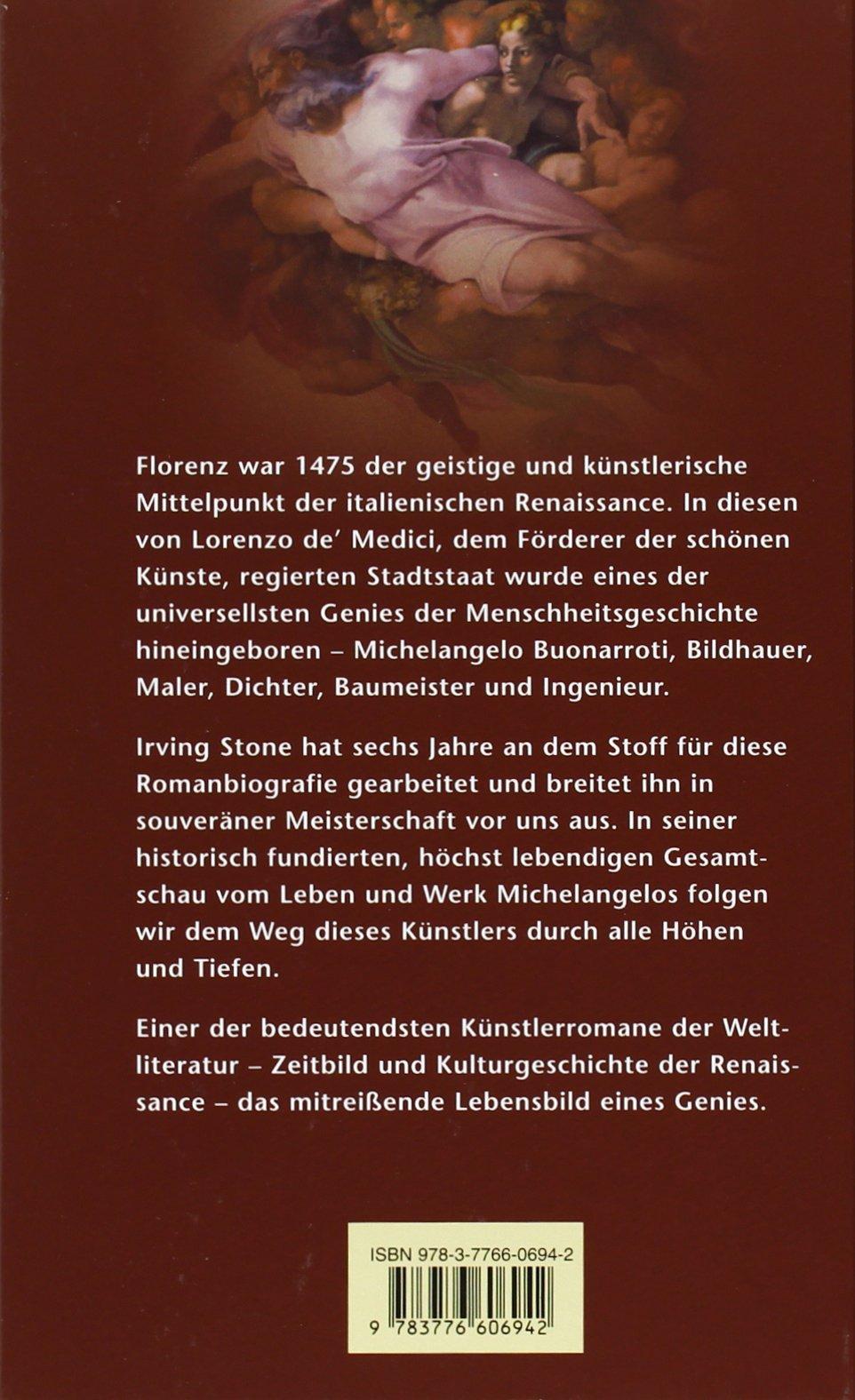 michelangelo biographischer roman sonderreihe amazonde irving stone hans kaempfer bcher - Michelangelo Lebenslauf