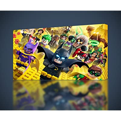 Lego Batman Movie Canvas Print Wall Decor Giclee Art Poster Robin Joker CA528, Regular: Posters & Prints