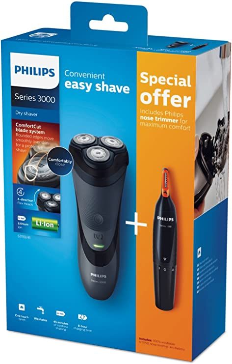 Philips S 3110/41 Recortadora Negro-Afeitadora (Máquina de Afeitar ...