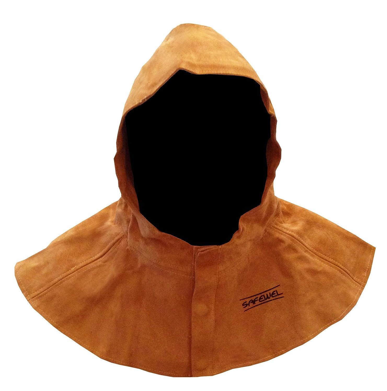 Safewel - Capucha protectora para soldador (piel): Amazon.es: Bricolaje y herramientas