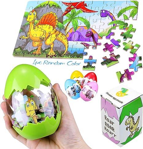 Amazon.com: Dinosaur - Puzle de huevo para fiesta, juguetes ...