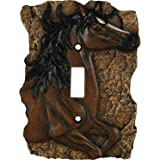 Rivers Edge Products Horse Single Switch Electrical Cover Plate