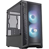Cooler Master MasterBox MB311L ARGB Airflow Micro-ATX Tower with Dual ARGB Fans, Fine Mesh Front Panel, Mesh Side Intakes, an