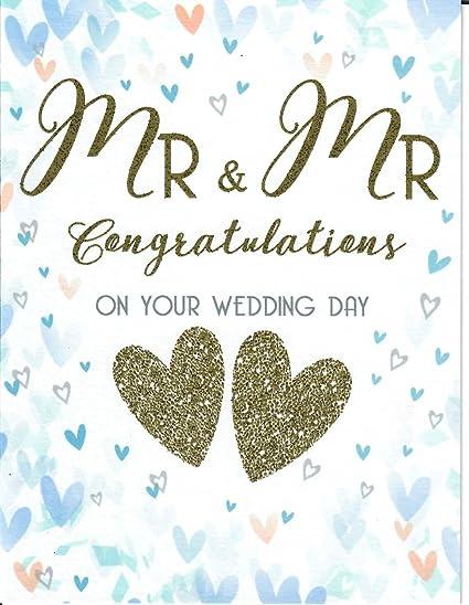 Beeindruckende Glückwunschkarte Zur Hochzeit Aufschrift Mr