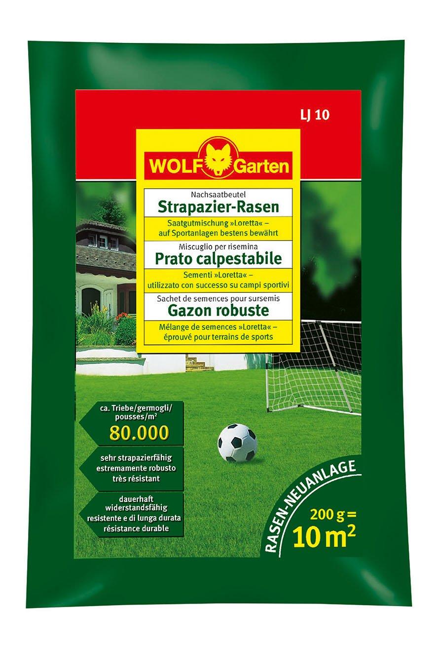 WOLF-Garten Strapazier-Rasen LJ 10; 3821010 Rasensamen