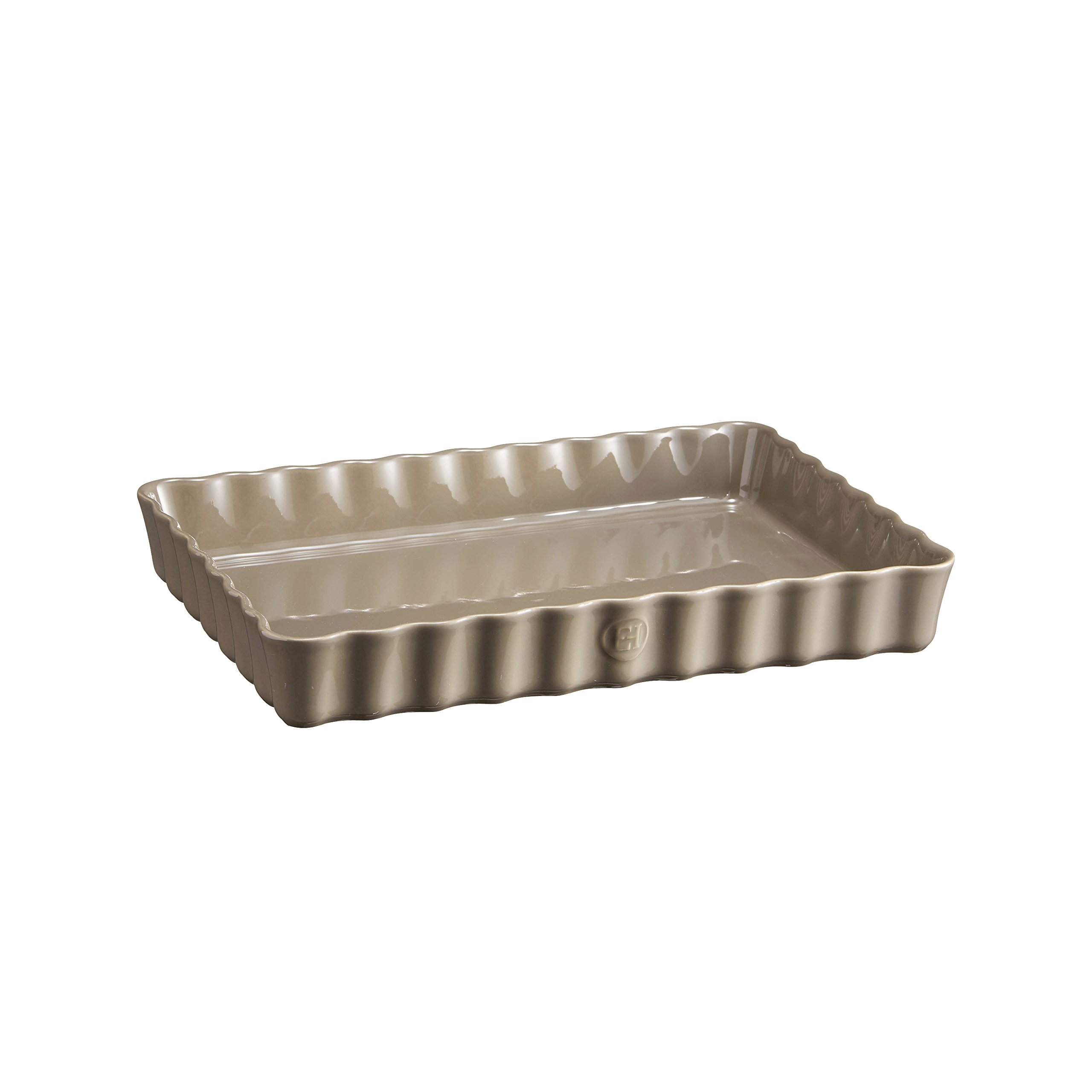 Emile Henry Deep Rectangle Tart Dish, 2 Qt, Flint