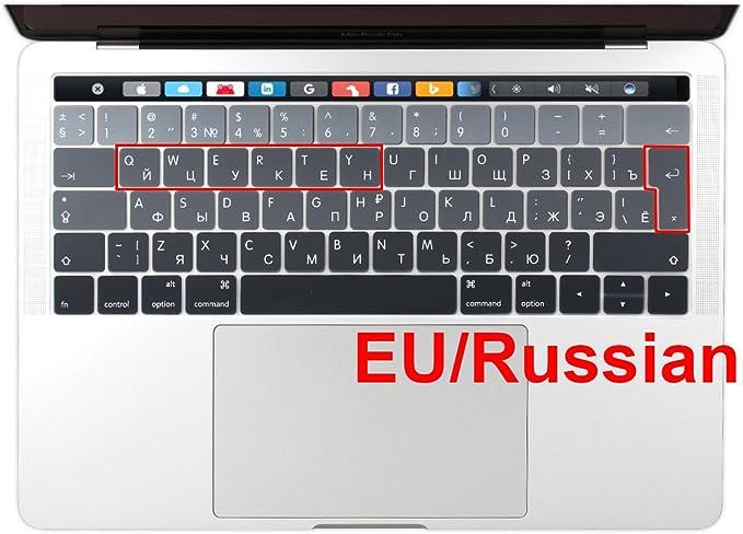 EooCoo Ultra D/ünn TPU Tastaturschutz /& Web-Kamera Abdeckung Privacy Cover Kompatibel f/ür MacBook Pro 16 Zoll mit Touch Bar 2019 2020 Modell A2141 EU-Layout,Klar