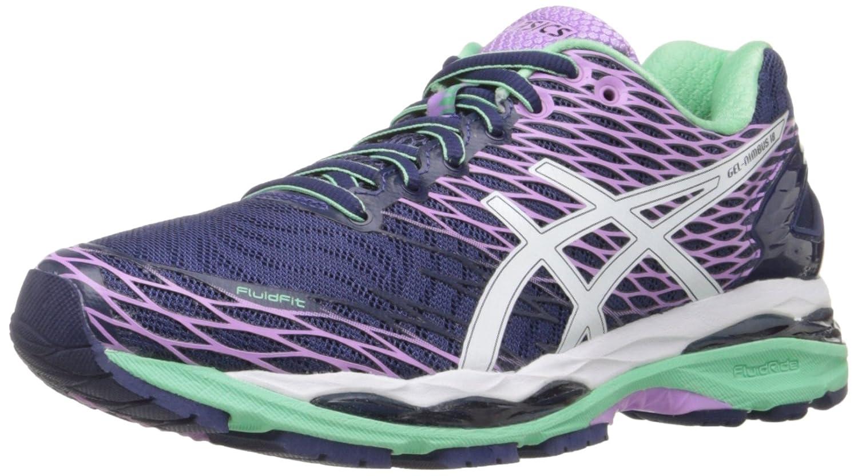 ASICS Women's Gel-Nimbus 18 Running Shoe B0118ZBMAM 12.5 M US|Indigo Blue/White/Spring Bud