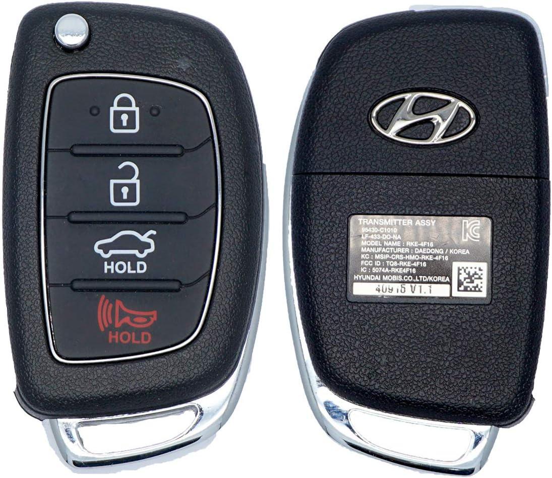 FCC ID: TQ8-RKE-4F16 // P//N: 95430-C1010 OEM Hyundai Sonata Flip Key Keyless Entry Remote Fob