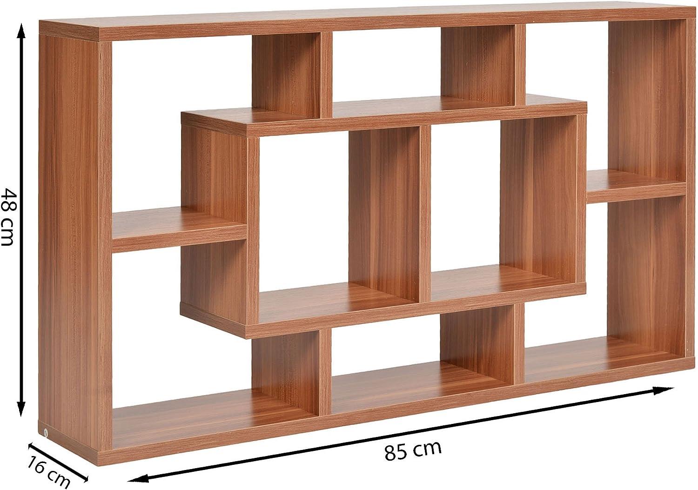 ts-ideen Estantería almacenamientoMadera librero CD 48 x 85