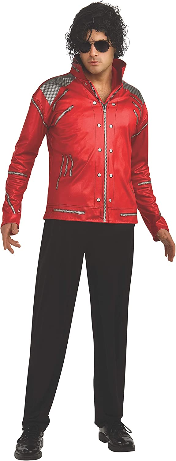 Michael Jackson Red Beat It Jacket - Adult UK Large Fits Jacket ...