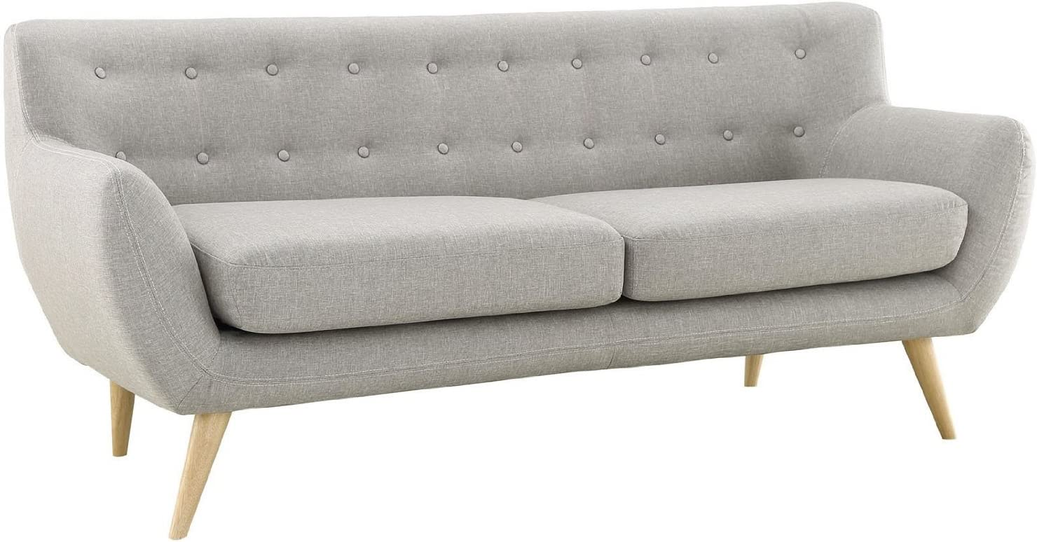 Divano Roma Furniture Modern Style Sofa / Love Seat, 2 Seater - Grey