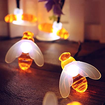 amazon com bz745 led bee festival home garden decoration lamp
