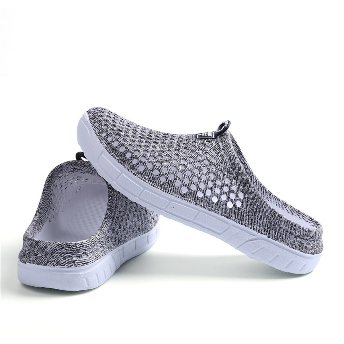 Ginjang Women's Garden Clogs Shoes Slip-on Slippers Sandals(38/Gray) by Ginjang (Image #4)