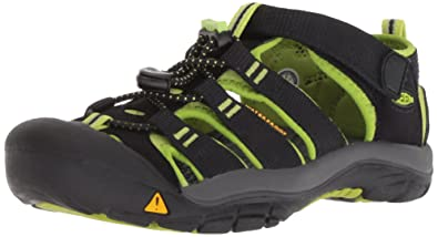 a4342da803f49f KEEN Toddler (1-4 Years) Newport H2 Black Lime Green Sandal -