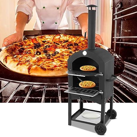 Horno de Pizza con Ruedas para Jardín Patio, Horno para ...