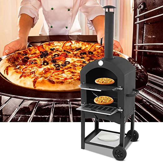 Zoternen Hornos de Pizza de Exterior,Horno de Pizza con Medidor de ...