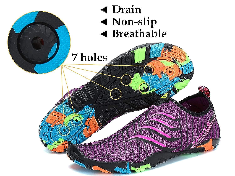 SAGUARO/® Unisexe Chaussures Aquatiques Respirant S/échage Rapide Chaussettes de Plage Et/é Surf Nager Antid/érapant Homme Femme