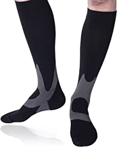 BXGOL Graduated Compression Socks For Men&Women - Best Recovery & Circulation for Running, Athletic sports, Medical, Edema, Varicose Venins, Flight Travel, Pregnancy, Nursing