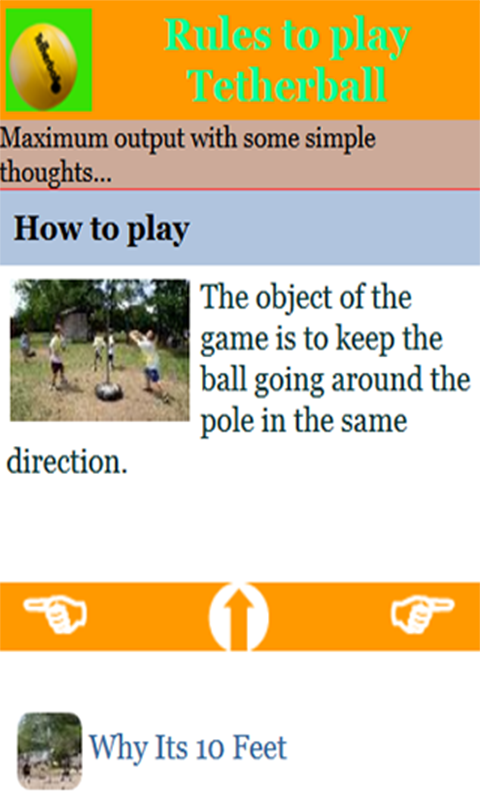 Tetherball rules