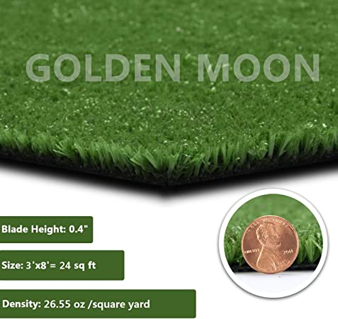 Amazon Com Golden Moon All Green Artificial Grass Rug Rubber Back 10mm Blade Height Fake Grass Rug 3 X 8 24sq Ft Garden Outdoor