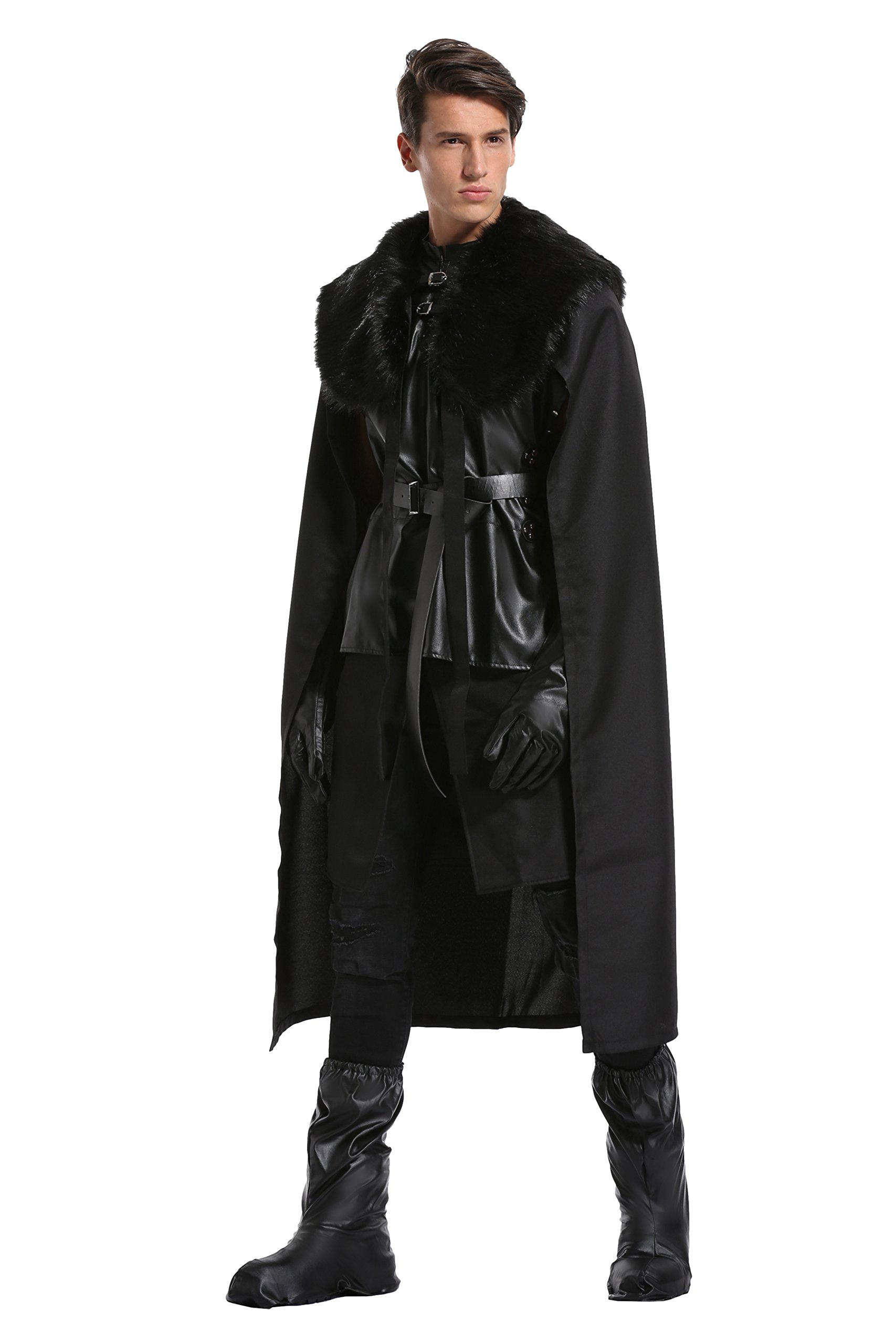 Halloween Costumes for Men and Child, Cosplay Cape Night's Watch Outfit with Gloves and Shoes Cover, Child S by Quintion Anneao