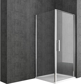 doporro cabina de ducha de esquina Ravenna36k 80x90x195cm Mampara vidrio de seguridad vidrio transparente incluye revestimiento para fácil limpieza en ambos lados: Amazon.es: Bricolaje y herramientas