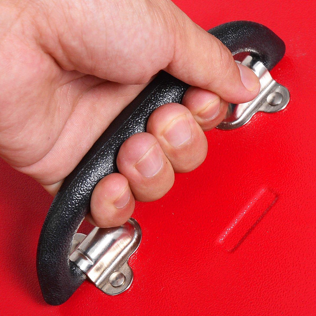 COSTWAY Carro de Herramientas con Ruedas,Cajones y Estantes Caja de Taller de Metal para Garaje y Hogar