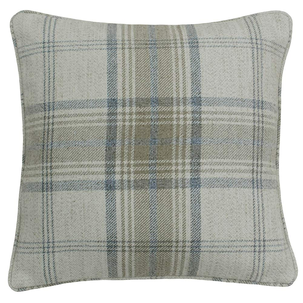 Riva Paoletti Aviemore Cushion Cover - Natural Beige - Heritage Tartan Check - Faux Wool Effect - 100% Polyester - Machine Washable - 45 x 45cm (18