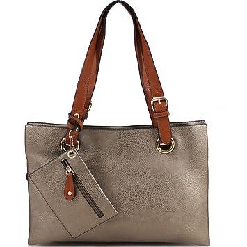 50db99c4e8 LeahWard Sac à bandoulière 3 compartiments pour femmes Gros sacs à main en faux  cuir souple pour les femmes 888 (BEIGE Sacs à bandoulière): Amazon.fr: ...