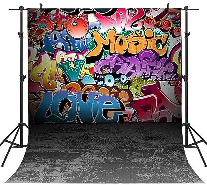 Amazon Com Graffiti Vinyl Background 80 S 90 S Themed Birthday