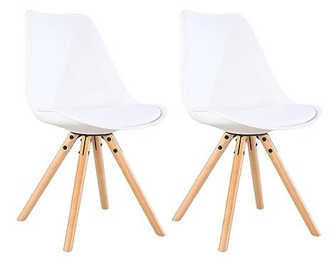 OYE HOYE retro sedie per sala da pranzo/ufficio sedie - Set di 2 ...
