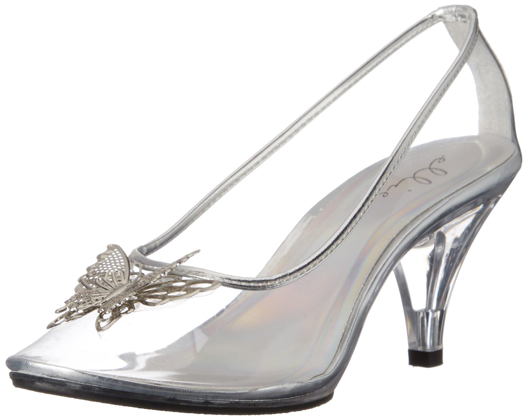 Ellie Shoes Women's 305-Cinder Dress Pump, Clear, 10 B Us