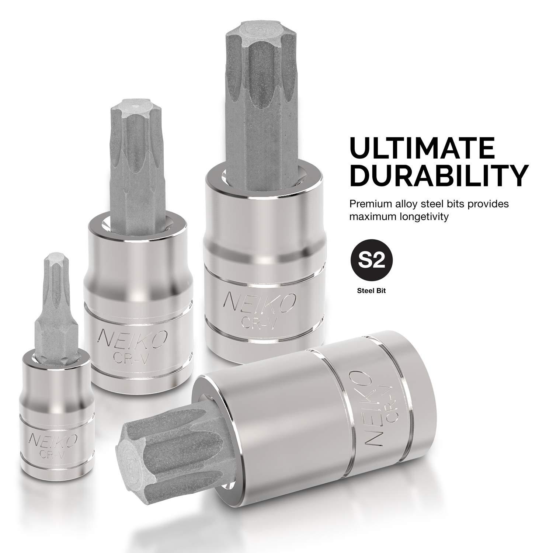Neiko 10083A Master Torx Bit Socket and External Torx Socket Set | 60-Piece Set | S2 and Cr-V Steel by Neiko (Image #2)