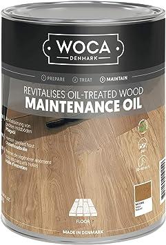 Woca Natur - Aceite de mantenimiento para suelos de madera (1,0 L ...
