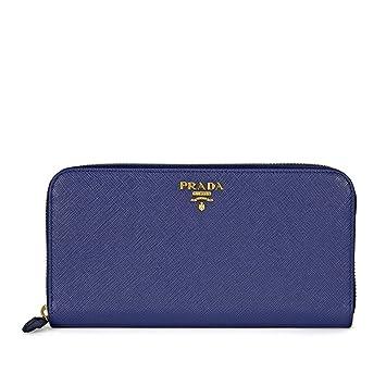 15b8783217d Amazon.com  Prada Women s Saffiano Leather Wallet Cornflower Blue ...