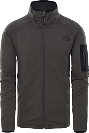 68c03843a4 The North Face M Borod Full Zip -Fall 2018-(T92VE1MN8) - Asphalt Grey/TNF  Black - XS: Amazon.fr: Vêtements et accessoires