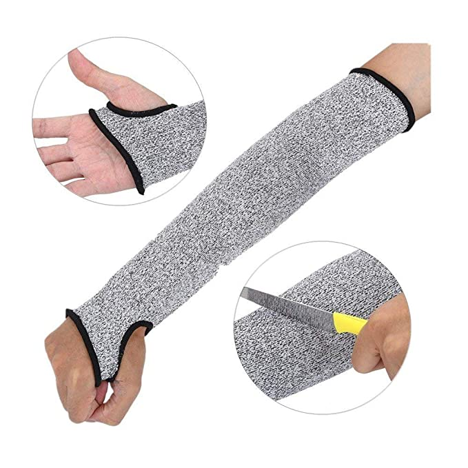Cut Resistant Protective Arm Sleeve Wrist Guard Glove for Clambing Hunting Gear