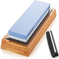 Sharp Pebble Premium Whetstone Knife Sharpening Stone 2 Side Grit 1000/6000 Waterstone- Whetstone Knife Sharpener…