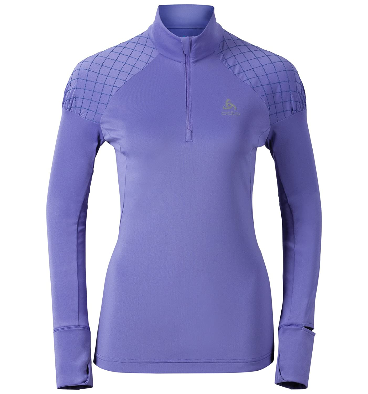 Odlo Damen Running Shirt Langarm Midlayer 1/2 Zip Medalia