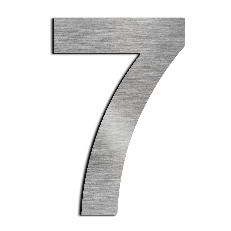 Gran nú mero de casa cepillado 6 Seis /9 nueve -25.4cm 10in-made de só lido aspecto flotante de acero inoxidable 304, fá cil de instalar fácil de instalar Lanewell