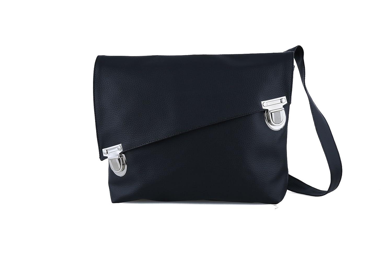 Handmade Designer Black Satchel Style Vegan Bag - Over the Shoulder Cross-Body or Backpack
