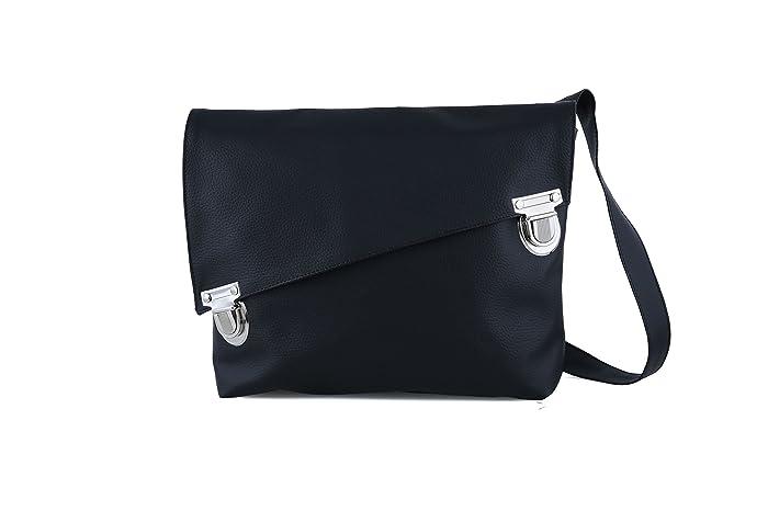 3d546fc7f9a7 Amazon.com: Handmade Designer Black Satchel Style Vegan Bag - Over ...