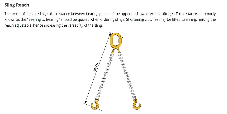 7 mm 1 m Length B-B 3 Leg Grade 8//80 William Hackett Chain Sling with Safety Self Locking Hooks