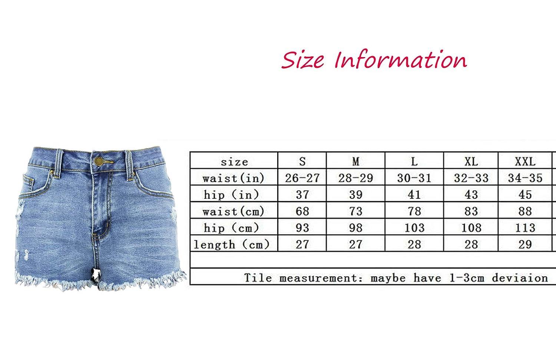 Amazon.com: Weigou - Pantalones cortos de mezclilla para ...