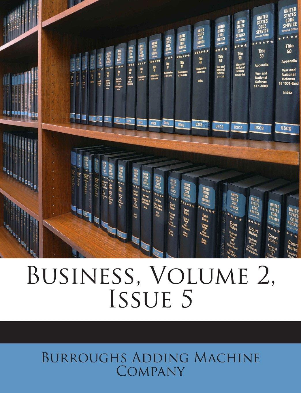 Business, Volume 2, Issue 5 PDF